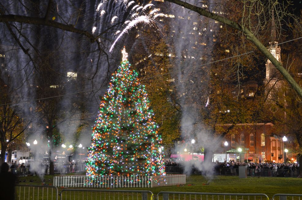 Story behind the photo boston christmas tree lighting kim lars the sciox Images