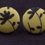 Fabulous Fabric Earrings (Creme and Navy)